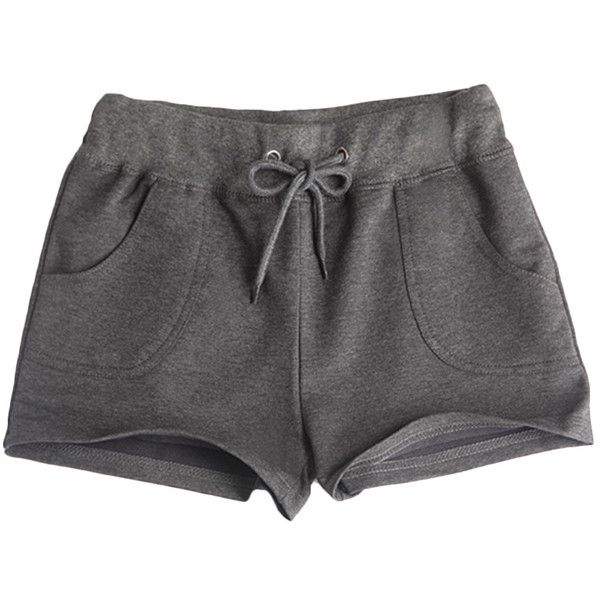 Loose Drawstring-waist Solid-tone Sport Shorts ($9.99) ❤ liked on Polyvore featuring shorts, bottoms, pants, short, loose shorts, sports shorts, loose fitting shorts, short shorts and drawstring waist shorts