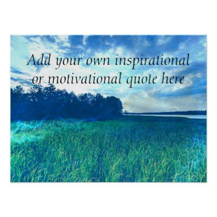 Create your own Inspirational/Motivational quote Poster - create your own gifts personalize cyo custom