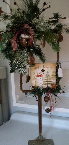 old sign wreath