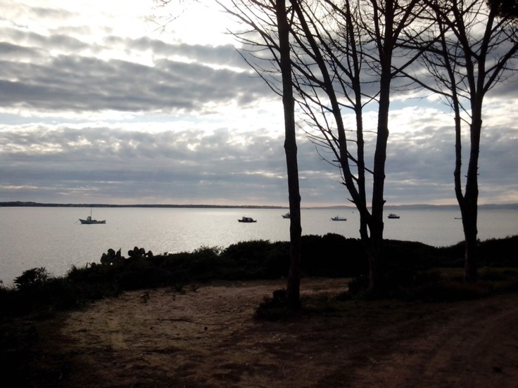 Veduta laguna sant Antioco, Sulcis Sardegna