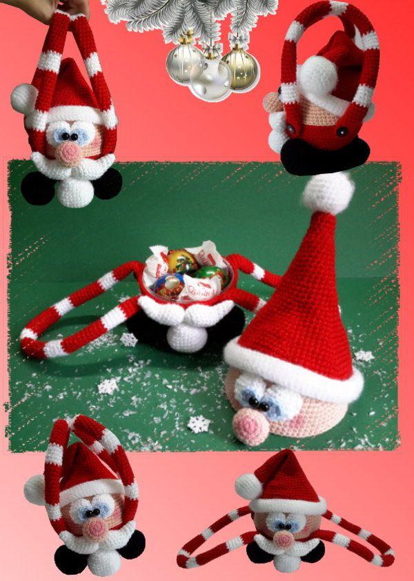 """Häkelanleitung """"Kugeliger Weihnachtsmann"""", Amigurumi"""