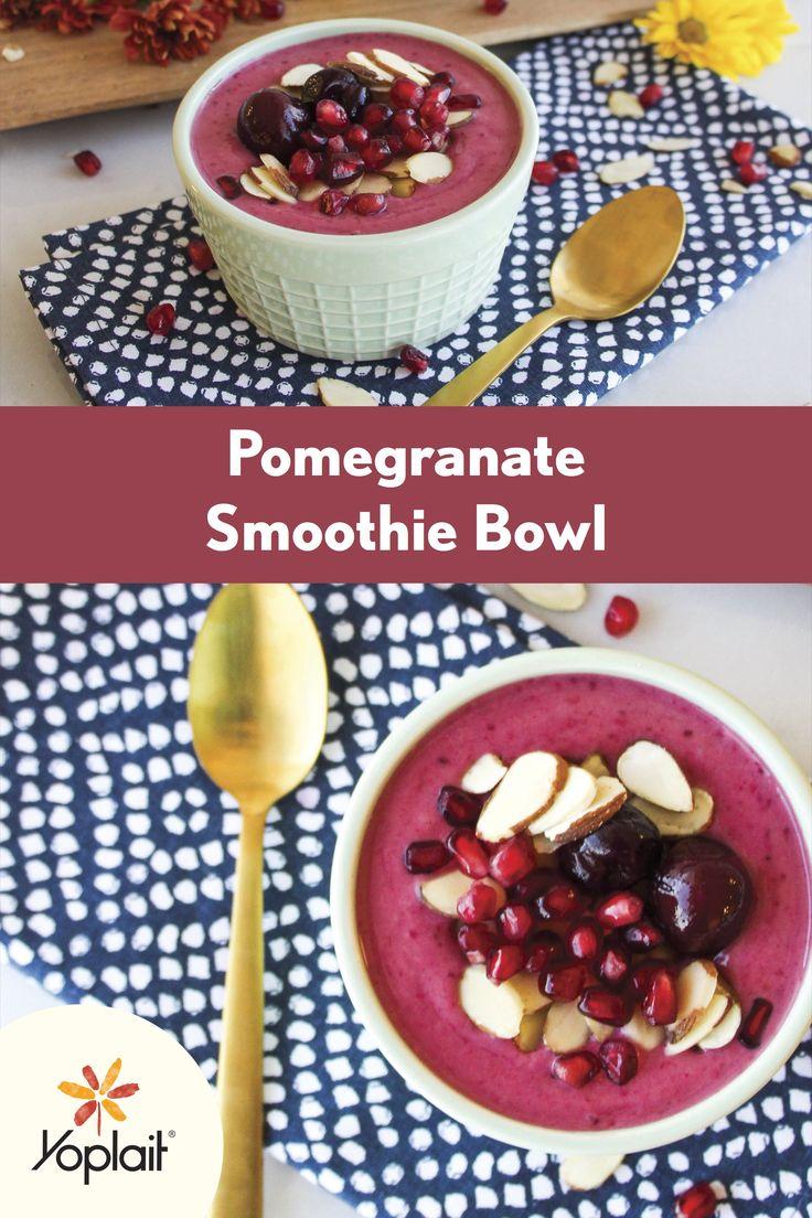 Pomegranate Smoothie Bowl with Yoplait Original Cherry Orchard yogurt ...