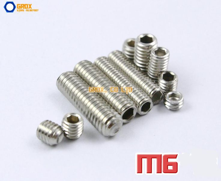 M6 304 Stainless Steel Grub Screws Cup Point Hex Socket Set Screw #Affiliate