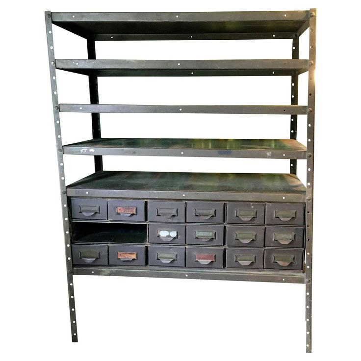 Industrial Utility Storage Vintage Shelving - Image 1 of 8