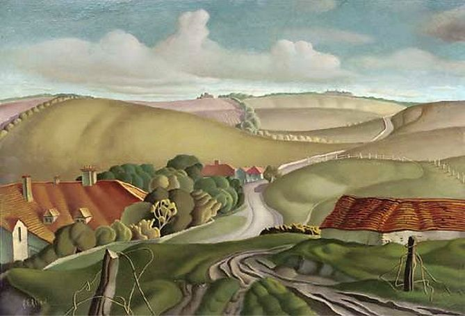 """""""Crowlink, Sussex"""" by Harry Epworth Allen (1894-1958)"""