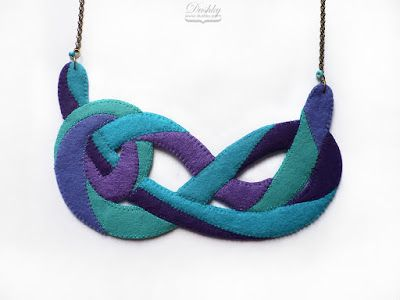 necklace by #dushky | #fel #jewelry #necklace #accessories #knot #infinity #blue #turquoise #teal #mint #lavender #ocean #aqua #purple #handmade