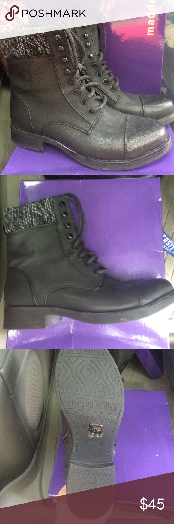Black combat boots offers welcomed Great condition! Worn a few times!! No marks Madden Girl Shoes Combat & Moto Boots