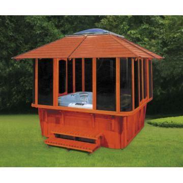 arbor for jaccuzi | MONALISA Wood gazebo for jacuzzi M-904 Model: M-904 Product Approvals ...