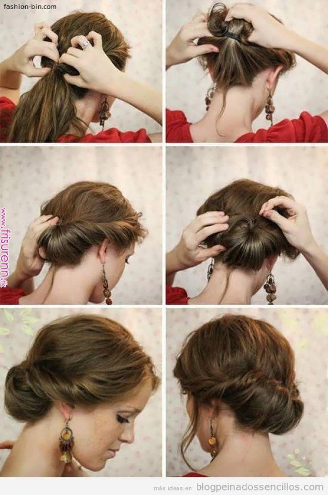 Tutoriales Para Mono Bajo Sencillo Peinado Elegantes Y Bohemios Para Fiestas Y Bodas Peinados Elegantes Peinado Con Diadema Peinados Sencillos