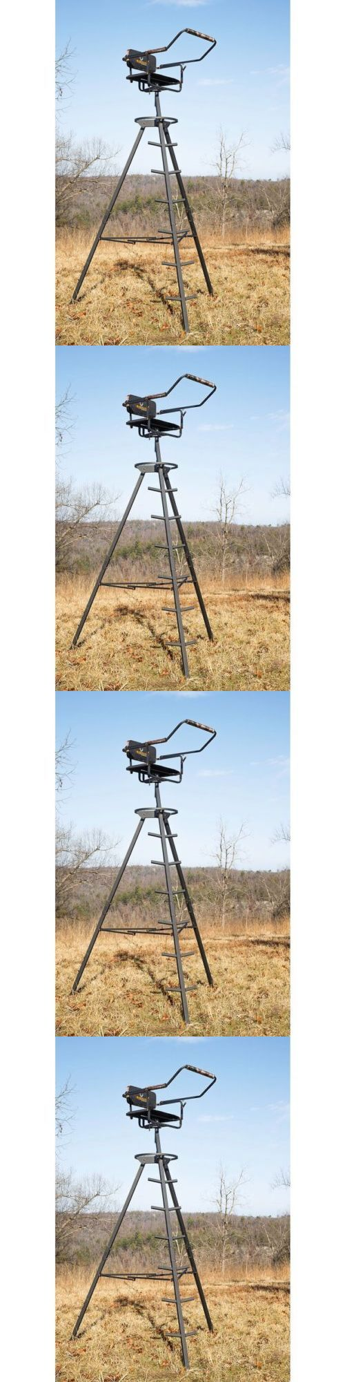 Tree Stands 52508: Deer Hunting Ladder Stand Foldable Tripod 10 Portable Lightweight Hunt Swivel -> BUY IT NOW ONLY: $122.71 on eBay!