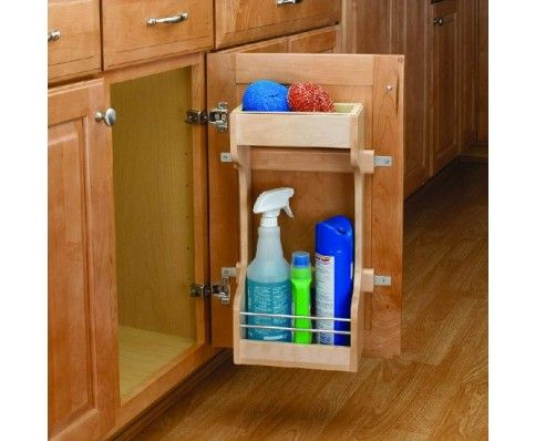 Wood Clic Sink Base Door Storage Organizer Designed For Cabinets Each Unit Contains Polymer Upper Tray Insert