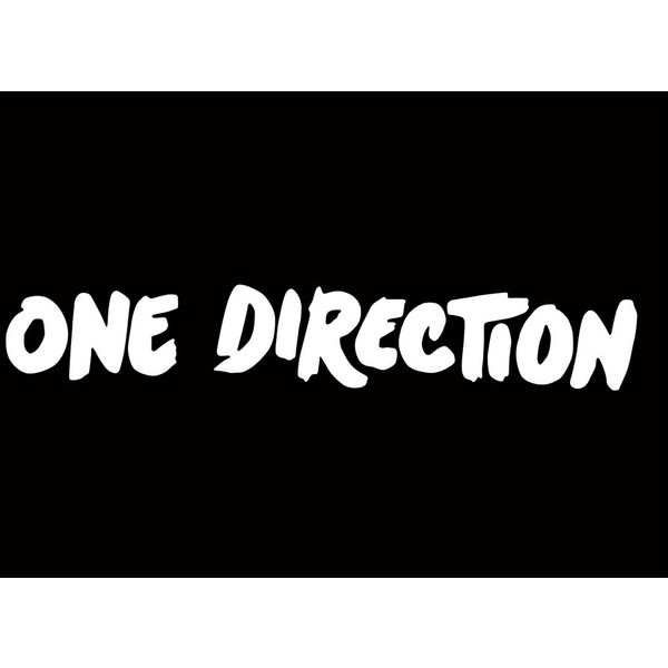 one direction logo black and white mobilearea mobi ❤ liked on Polyvore