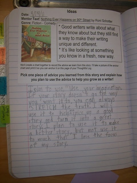 Must do these reading notebooks and begin writing about reading.