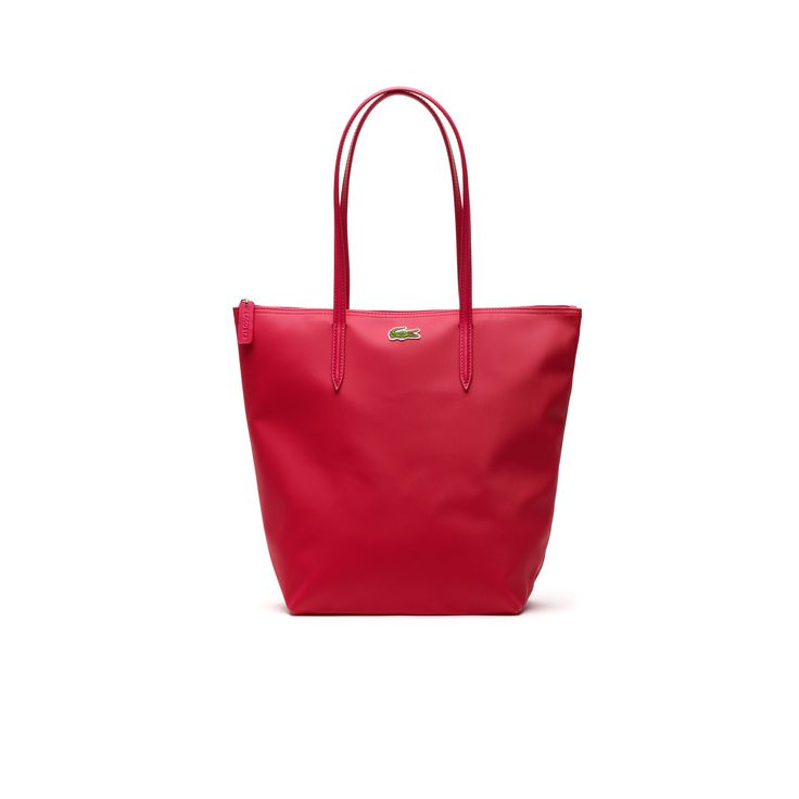 LACOSTE Women'S L.12.12 Concept Vertical Tote Bag - Petunia Pinkpetunia Pink. #lacoste #bags #leather #hand bags #tote #