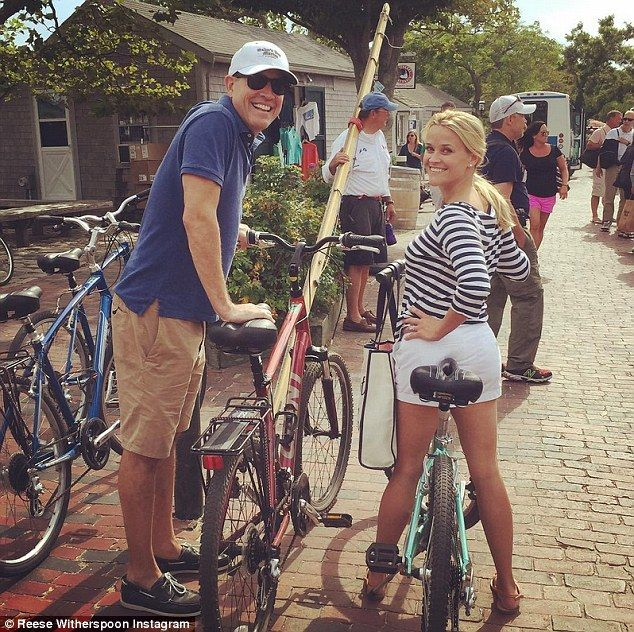 Wheely good fun! Reese Witherspoon and her husband Jim Toth looked happier than ever while...