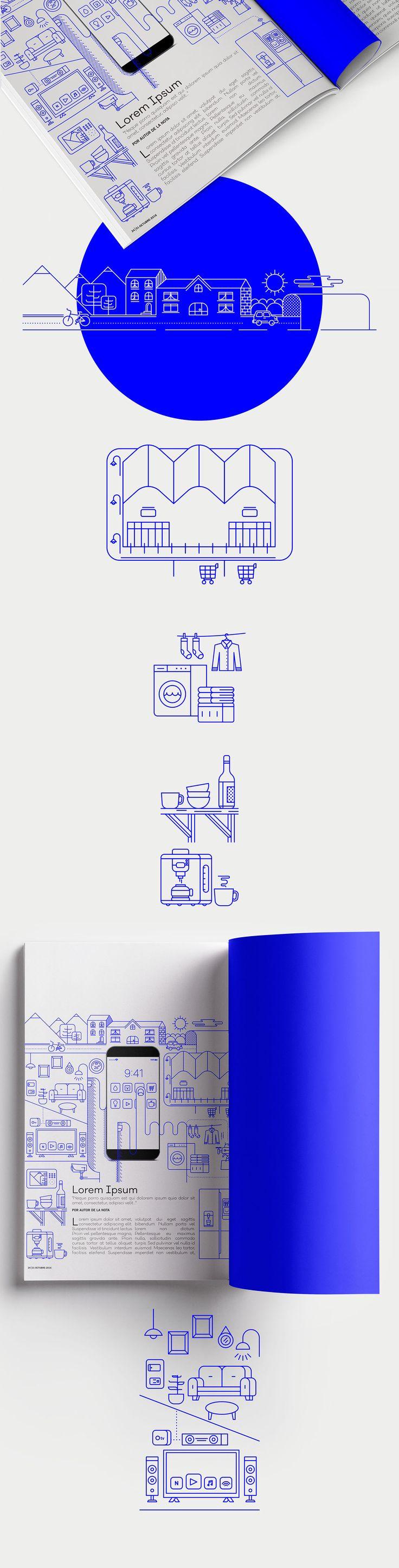 Smart Home. Ilustración Editorial on Behance