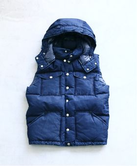 "[再入荷] THE NORTH FACE PURPLE LABEL (ザ ノース フェイス パープルレーベル)  ""Indigo Hooded Sierra Vest"" 