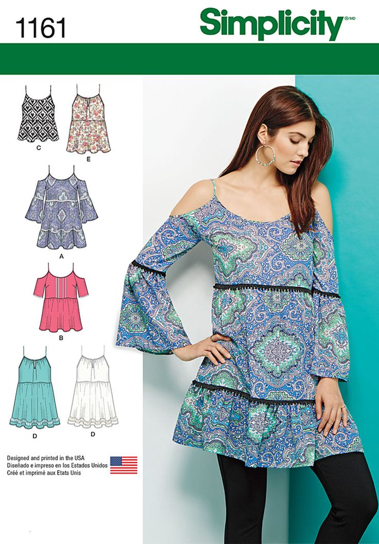 Simplicity Creative Group - Misses' Mini Dress or Tunics and Top 1161