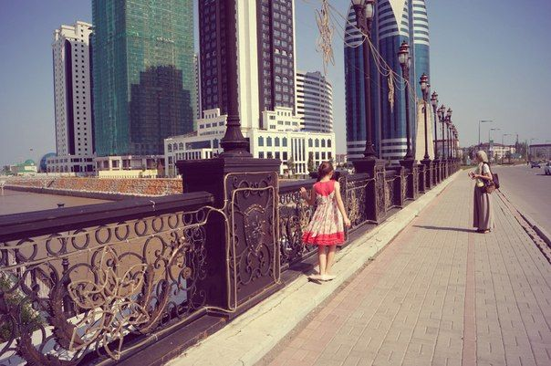 My little cousin Elina in #Grosny, #Chechnya