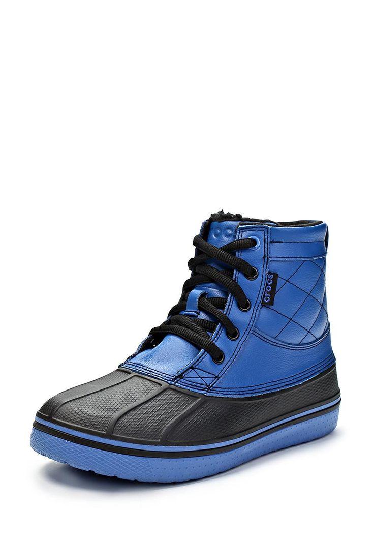 boys camo crocs blue