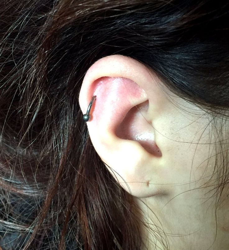 Helix piercing (titanium circular barbell, cartilage jewelry) #helix #piercing #piercings #earpiercings #earjewelry #helixjewelry #ideasforearpiercing Пирсинг Хеликс #пирсинг #пирсинг хряща #хеликс #серьги #пирсингуха #пирсингушей #красота #идеидляпирсингауха