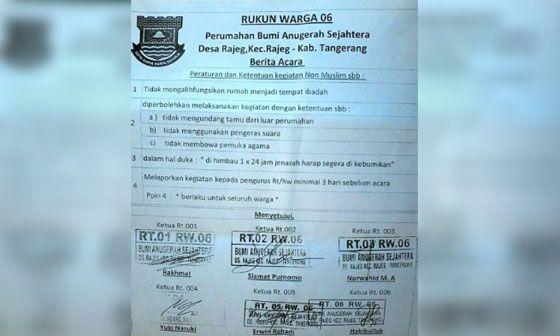 Heboh! Peraturan RW di Tangerang Ini Mendadak Viral Dan Jadi Kontroversi
