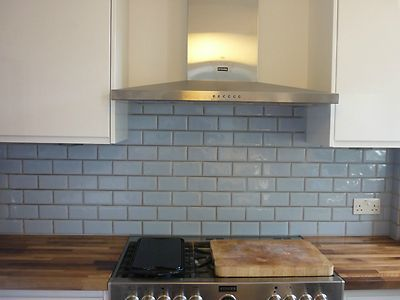 details about light blue metro kitchen  bathroom tiles x