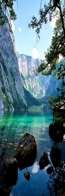 //Lake Obersee, Berchtesgaden National Park, Germany//