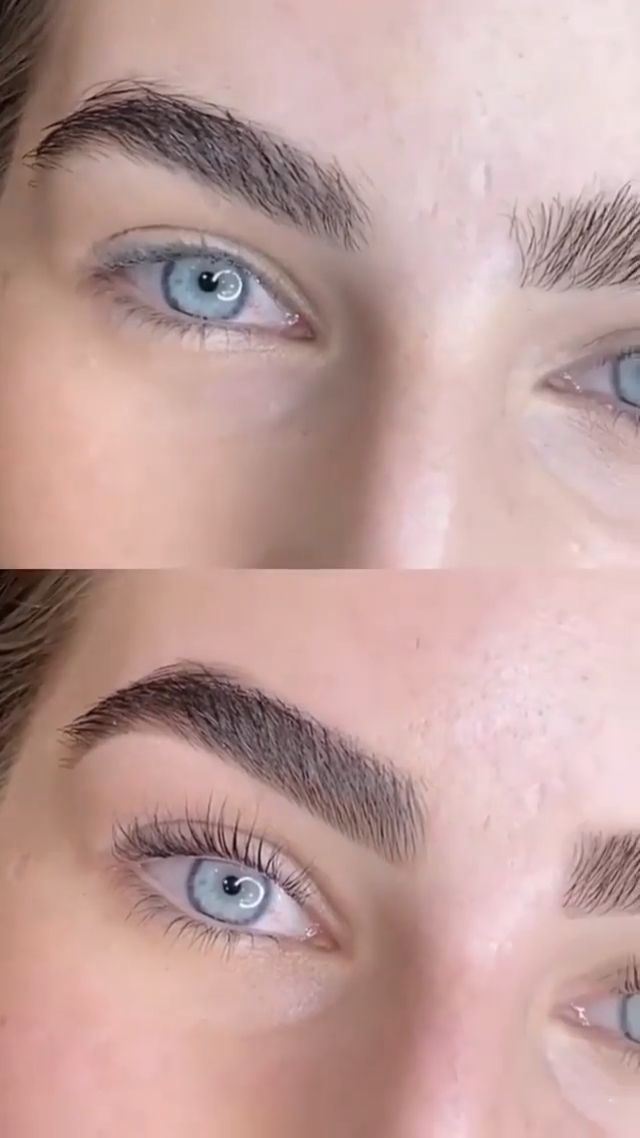Brows Before And After Wedding Makeup in 2020 | Lashes ...