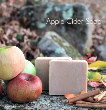 Homemade Apple Cider Soap Recipe & Tutorial http://diyhomesweethome.com/homemade-apple-cider-soap-recipe-tutorial/