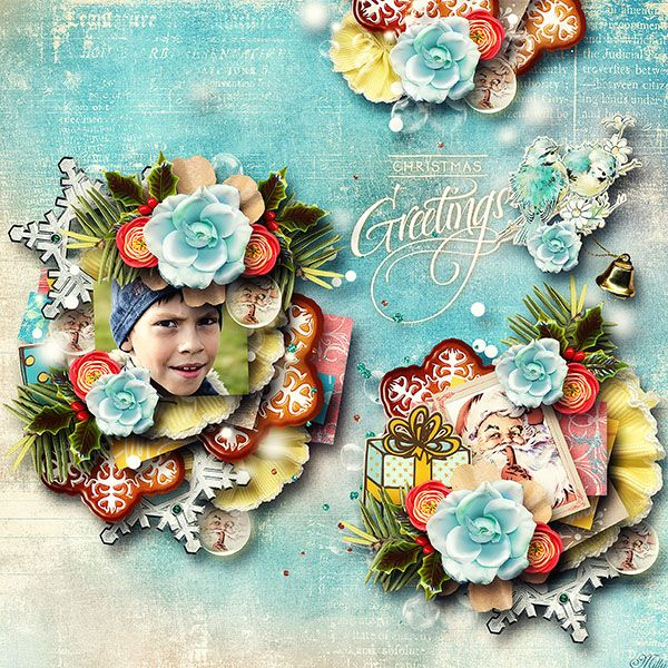 Christmas Songs {Bundle} by Valentina 's Creations template Birthday Freebie2013 by Eudora Designs