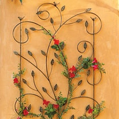 Bird Garden Trellis (This site has great planters, fountains etc. for the outdoor spaces)