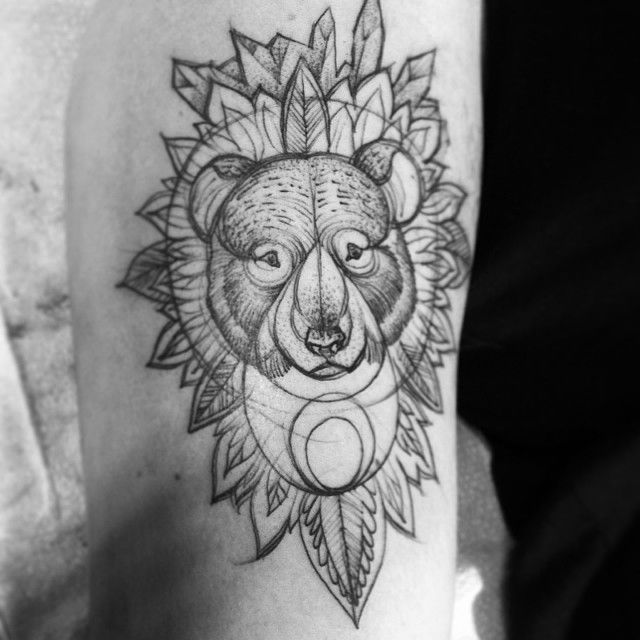 Best Linear Designs Etched Look Images On Pinterest - Beautiful sketch tattoos by nomi chi
