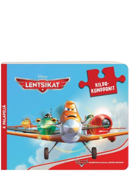 Lentsikat, Kilpakumppanit-palapelikirjassa poseeraavat Lentsikat-elokuvan päätähdet. 4 palapeliä, joissa kussakin 9 palaa. Taustakuva helpottaa kokoamista. 3+