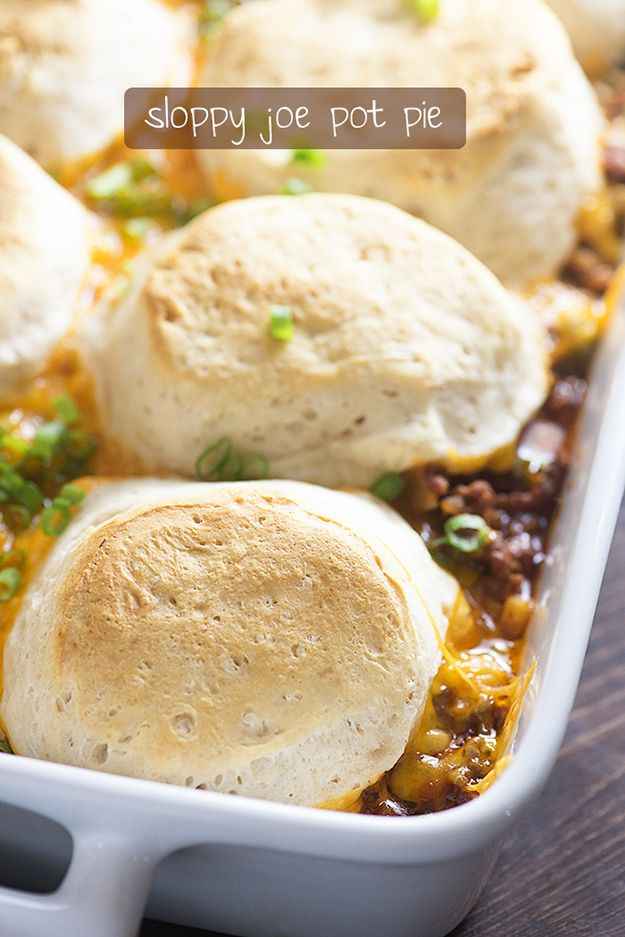 This sloppy joe pot pie is perfect for busy nights when you want to get something on the table that you know your kids will devour!