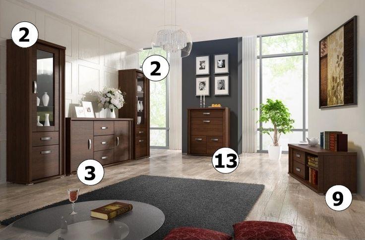 Sestava obývacího nábytku - obývací stěna Gustos A