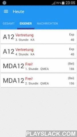 Vertretungsplan 12+ Schulen  Android App - playslack.com ,  Vertretungspläne für folgende Schulen werden unterstützt:- HAG Haßloch (HAGH)- Ruth-Pfau-Schule Leipzig- Gymnasium zu St. Katharinen - Oppenheim- Karl-Volkmar-Stoyschule in Jena- Oberland-Gymnasium Seifhennersdorf- Berufsbildene Schule 3 - Mainz (bbs3 - Mainz)- BBS Walsrode- Regelschule Geisa- SGG Bingen- Goehte Gymnasium Berlin- Albert - Einstein - Schule Maintal- Maxim - Gorki - GES Kleinmachnow- Hans - Ehrenberg Schule…