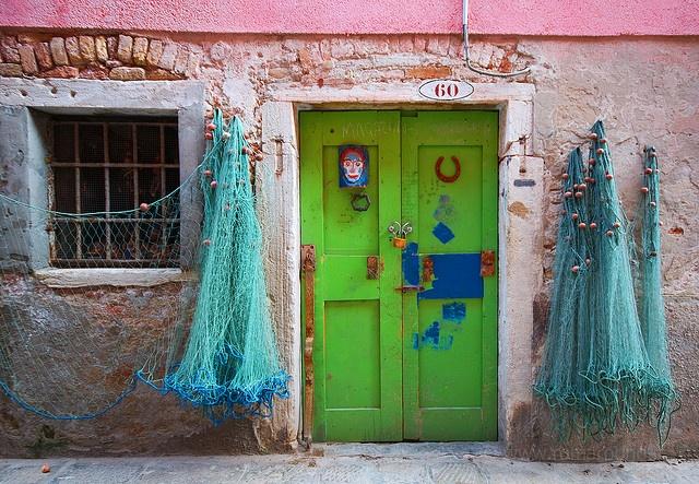 Venice, the fisherman's door