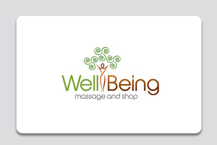 Logo for Well Being massage and shop.   A new business offering massage therapy with a retail shop specializing in wellness related products.