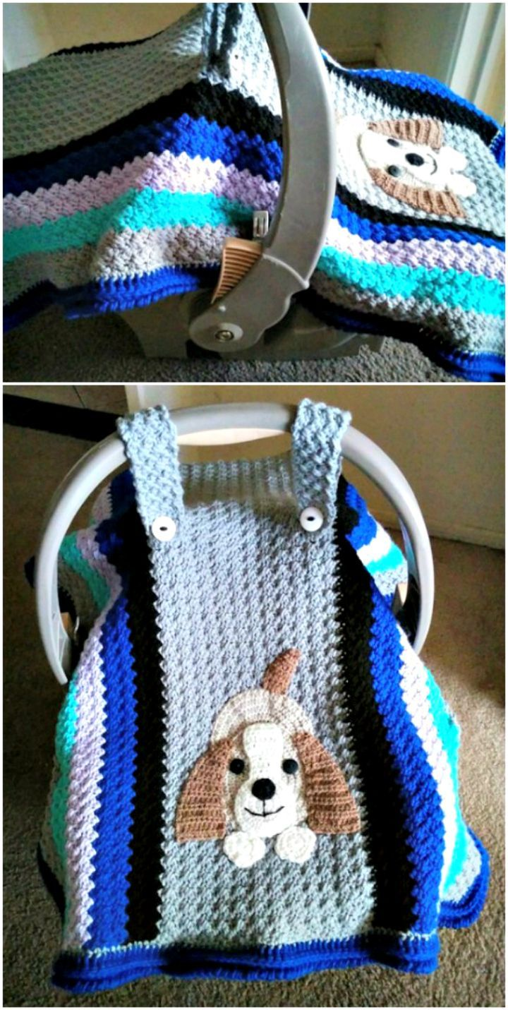 DIY Crocheted Car Seat Cover Pattern - 101 Free Crochet Patterns For Beginners That Are Super Easy - DIY & Crafts