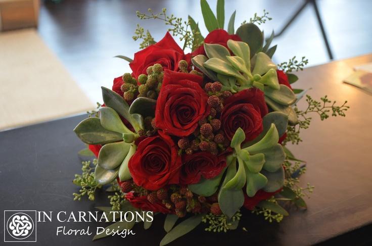 #Rose, #succulent #bouquet.     www.incarnationsdesign.com    copyright In Carnations