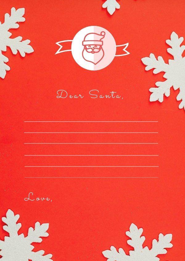 Printable Blank Santa Letter Template Santa Letter Template Santa Letter Card Templates