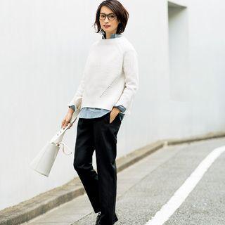 """アラフォーのアイコン""""黒パンツ""""をカジュアルに着る!Marisol ONLINE 女っぷり上々!40代をもっとキレイに。"""