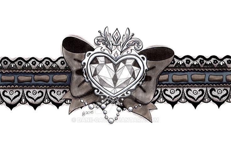 Lace Garter Tattoo Patterns | garter tattoo design by danii-cat on DeviantArt