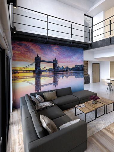 Large London Photo Wallpaper Wall Mural For Living Room Decor Office Art
