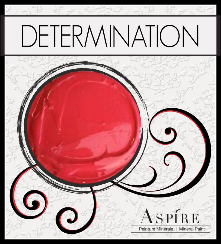 "This is Aspire Mineral Chalk Paint in ""Determination"". Turn tired, old furniture back to show-stopping stunning with this fiery red hue!"