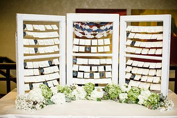 our seating chart setup (Julie Lim Photography)