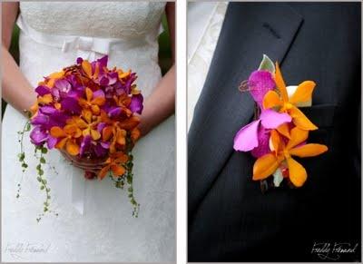 orange et violet