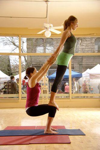 acro yoga - Trust. Held.