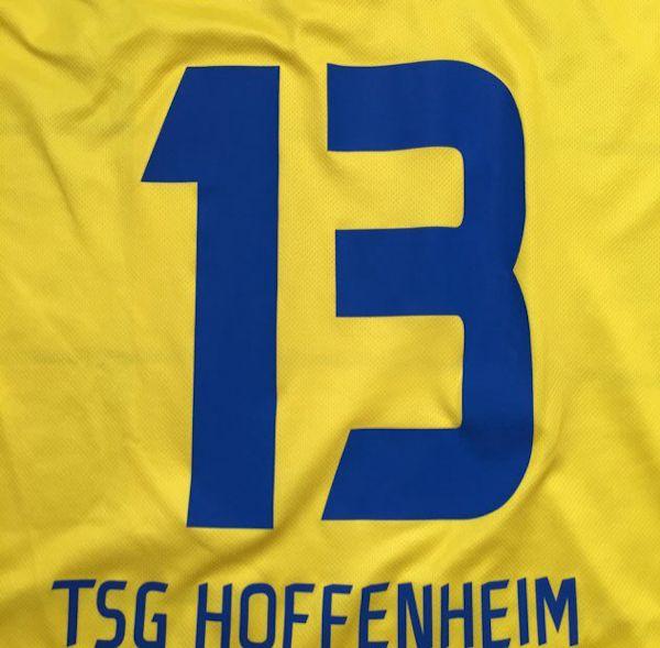 TSG Hoffenheim 1899 Hoffenheim www.achtzehn99.de Fanclub Kraichgau Brasilianer Fußball Trikot 1. Bundesliga gelb blau